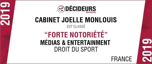 Classement Décideurs juridiques Cabinet Monlouis